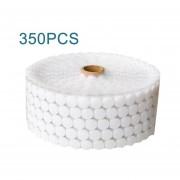 350PCS Magic Round Sticker Double Sided Adhesive Hooks Pads Dot Fastener Tape White