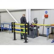 Maschinenschutzgitter aus flexiblem Kunststoff Gesamtbreite 1500 mm