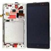 Дисплей + Тъч скрийн + Рамка за Nokia Lumia 830 Бял