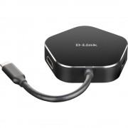 D-Link DUB-M420 4 ulaza USB 3.0 hub crna