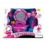Mozlly Mozlly Battery Operated Beauty Play Set in Purple with Sounds and Lights - Fantasy Theme - 1 Vanity Set with Beauty Accessories Total of 9 Items - Item #101310