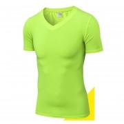 Hombres Compresión Aptitud Gimnasio Tops Correr Fajas T Camisa