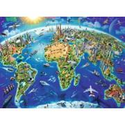 Puzzle Ravensburger - Harta Lumii, 200 piese (12722)