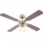 GLOBO lightnig GLOBO 0309 CHAMPION stropní ventilátor s osvětlením na patici E27 1066 mm s tahovým vypínačem mosaz
