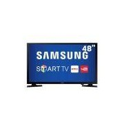 Smart TV LED 48 Full HD Samsung 48J5200 com Connect Share Movie, Screen Mirroring, Wi-Fi, Entrada HDMI e USB