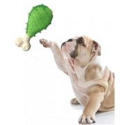 High Quality Natural Rubber Chew Bone Shape Toy for Dog / Cat / Puppy / Kitten (Green)