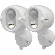 Mr. Beams Motion-Activated Wireless LED Spotlight with NetBright - 2 Pack, 200 Lumens, White, Model MBN342