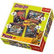 Puzzle 4 in 1 - Aventurile lui Scooby Doo, 207 piese