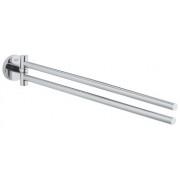 Suport prosop Grohe Essentials ,doua brate,crom -40371001