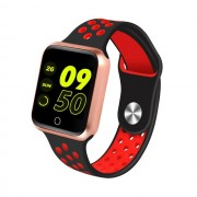 S226 1.3-inch IPS Color Screen Real-time Heart Rate Monitor Health Reminder Bluetooth 4.0 Smart Bracelet - Rose Gold / Black/ Red
