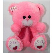 Pink Puchi Teddy Bear wearing Muffler
