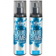 Liquid Bomb Perfumed Body Spray - Cool (Set of 2)