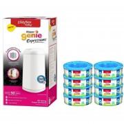 Diaper Genie Expression Paquete Bote y 12 Repuestos Essential