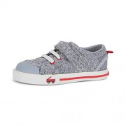 See Kai Run Tanner Sneakers for Kids, Gray/Red, 2.5Y
