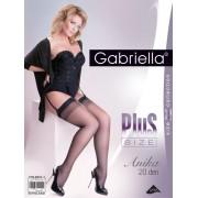 Gabriella - Elegant plus size stockings with subtle diamond pattern Anika, 20 DEN