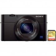 Sony CyberShot RX100III + SanDisk 64 GB Geheugenkaart