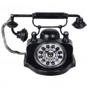 Zegar na biurko komodę stół TELEFON metalowy RETRO