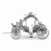 Bricolaje rompecabezas de calabaza coche 3d modelo de ensamblaje educativo - plata