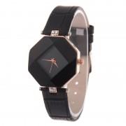 Dámske hodinky v tvare kryštálu čiernej
