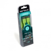 SERIOUX HDMI M-M GREEN FLAT CABLE 1.5M