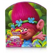 Crayola; Trolls Creativity Tool Kit; Art Tools; Washable Markers Crayons; Colored Pencils; Coloring Sheets; Great Gift