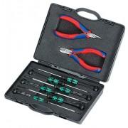 Набор с клещи за електроника за електронни елементи, 00 20 18, KNIPEX