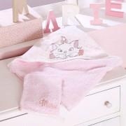 Badcape en washandje van badstof van