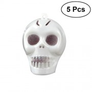 5pcs Mini Small Skull Luminous Hanging Horror Party Decoration Props Prank for Halloween Club Pub Haunted House