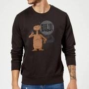 E.T. the Extra-Terrestrial Sudadera E.T. el extraterrestre Where Are You From? - Hombre - Negro - 4XL - Negro