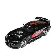 Kinsmart 1:36 Scale Dodge Viper GTS-R Pull Back Car Toy (Black)