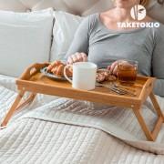Masuta de pat pliabila din bambus