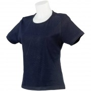 Dames-shirt lady fit navy maat S/M