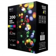 Karácsonyi fényfüzér 200LED 20m Kisgömb Multikolor 6W időzítős