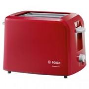Тостер Bosch TAT 3 A 014, aвтоматично изключване, сензор за равномерно препичане, 980 W, червен