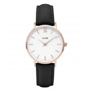 CLUSE Horloges Minuit Rose Gold Colored White Zwart