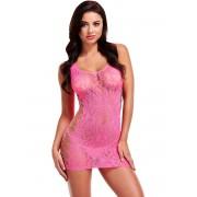 Lapdance: Leopard Lace Mini Dress, rosa