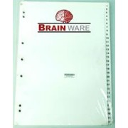 Brainware A4 File Divider Board Tab1-31, Retail