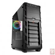 """Sharkoon Skiller SGC1 RGB, no PSU, 2x5.25"""", 3x3.5"""", 4x2.5"""", USB3.0, Front 1x120mm RGB fan/ Rear 1x120mm RGB fan, ATX Midi Tower, black"""