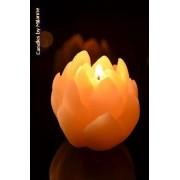 Designkaarsen com Lelikaars WIT, hoogte 7 cm - kaarsen