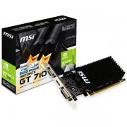 MSI Video Card GeForce GT 710 DDR3 2GB/64bit, 954MHz/1600GHz, PCI-E 2.0 x16, HDMI, DVI-D, VGA Heatsink, Low-profile, Retail GT_710_2GD3H_LP