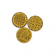 AsianHobbyCrafts Designer Foam Stamps (Small) : Pack of 3 : Round Design : For Printing, Scrapbooking, HobbyCrafts