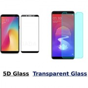 Oppo Realme 1 5D Black Tempered Glass With Transparent Glass Combo Deal Standard Quality