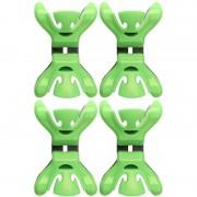 Geen 4x Slingers/decoratie ophangen slingerklemmen groen