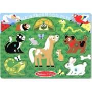 Puzzle lemn animale de companie Melissa and Doug