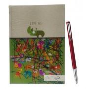Saugat Traders Gift For Teacher - Parker Vector Standard Ball Pen & Diary