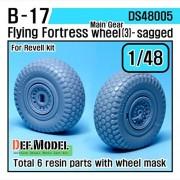 DEF Model 1:48 B-17F/G Flying Fortress Wheel set 3 (for Revell 1/48) #DS48005