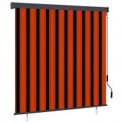 vidaXL Store roulant d'extérieur 170x250 cm Orange et marron