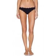 Marysia Swim Scallop Bikini Bottom in Black. - size XS (also in L,M,S)