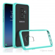 Funda Case Para Samsung S9 Plus Protector Transparente De Acrílico Con Bordes De Plastico TPU - Menta
