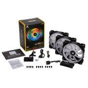 Corsair LL120 RGB 120mm Dual Light Loop PWM 3 Fans + Controller + 6 Port Hub